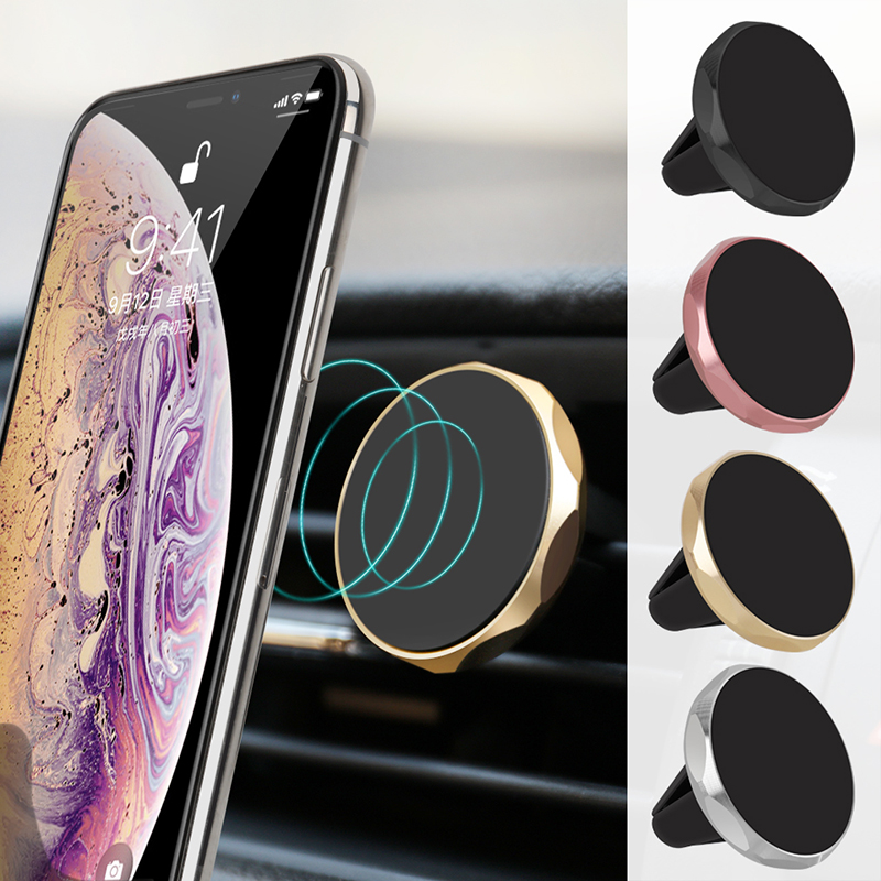 Magnetic Car Phone Holder For iPhone Samsung Magnet Mount 360 Rotation Car Holder for Phone in Car Phone Holder Stand