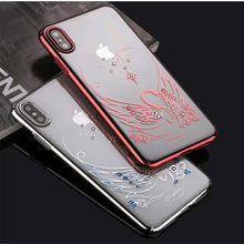 d1fceaf2e9c786 KINGXBAR Transparent Case for iPhone XR Swan Pattern Authorized Swarovski  Plating PC Phone Cover for iPhone XR 6.1 inch Capa