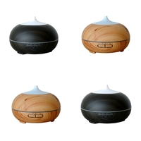 300ml Aroma Essential Oil Diffuser Wood Grain Ultrasonic Aromatherapy Humidifier Cool Mist Humidifier For Office Home