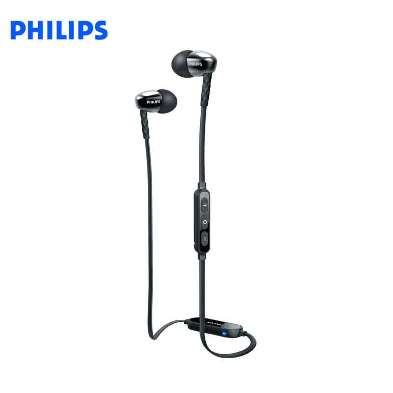 EOL_Earphones Philips SHB5850BK/51 bluetooth headphones in-ear наушники philips shb5850bk