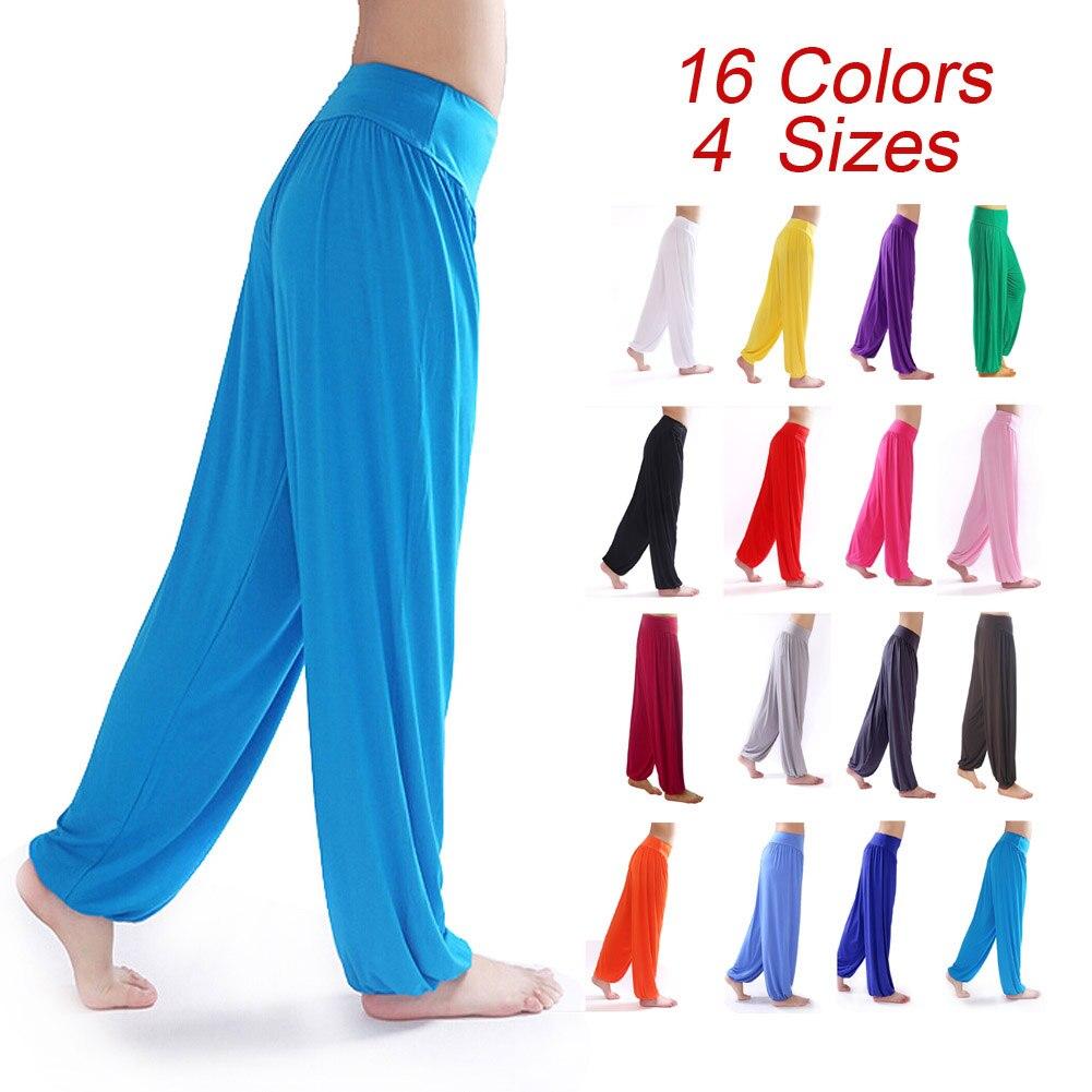 Women Bloomers Dance Yoga TaiChi Full Length Pants Smooth Antistatic Yoga Pants 55 XR-Hot цены