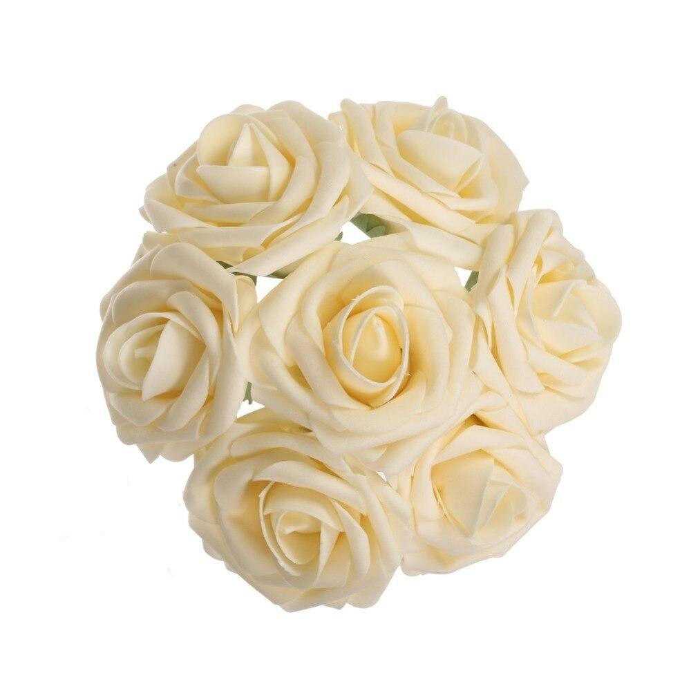 Цвета слоновой кости, искусственное шампанское, свадебные цветы, пена, розы, цветочный свадебный стол, Декор, товары для вечеринок, LNPE043