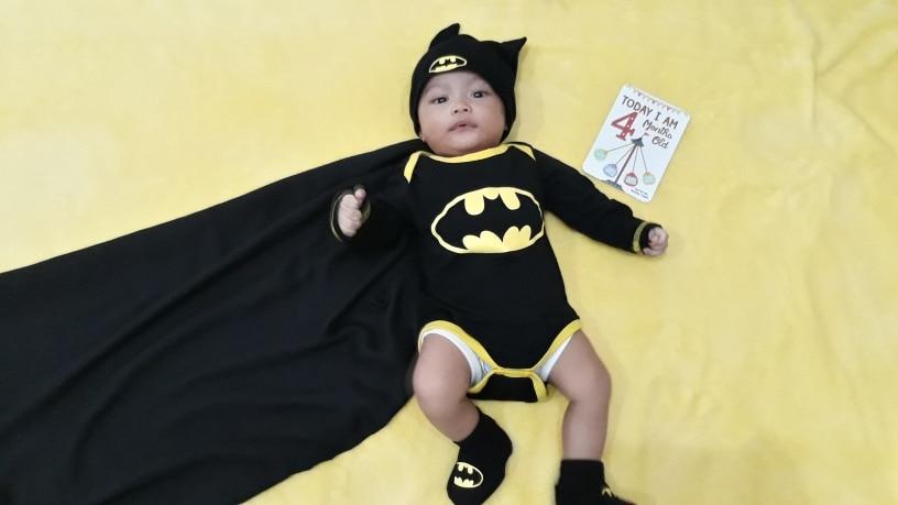 ff6cdff87 Baby Boys Cool Batman Newborn/Infant 3pcs Outfits Set (Romper+Shoes+ ...