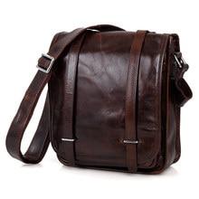Messenger Bag Men Genuine Leather Travel Business Mens shoulder bags Male Vintage Cow Casual Crossbody Bags