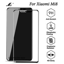 테크 Mi8 강화 유리 Xiomi 8 화면 보호기 전체 커버 Xiaomi8 Xaomi Mi8 M8 보호 필름 Xiomi8 케이스