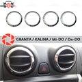 Für Lada Granta/Kalina chrom kappe auf air deflektoren edelstahl innen molding aussehen auto styling dekoration