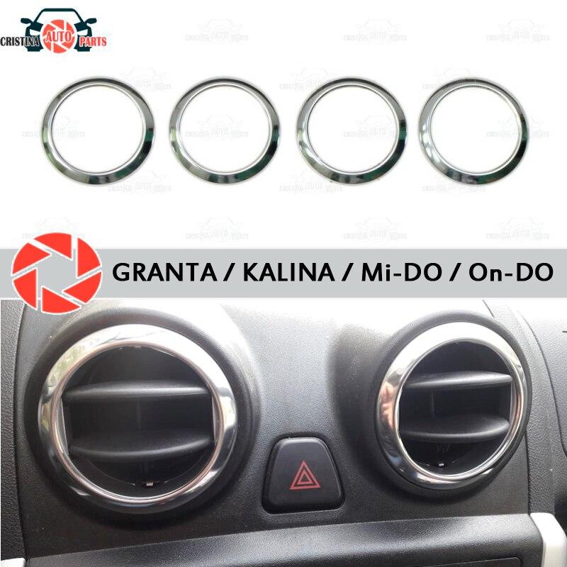 Para Lada Granta/Kalina tampa cromada em defletores de ar aparência interior moldagem estilo do carro decoração de aço inoxidável