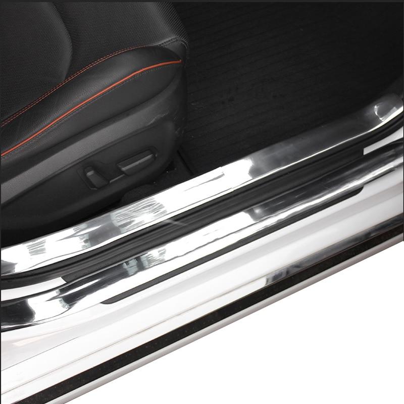 Image 4 - Наклейки на двери автомобиля, хромированный Стильный чехол для двери, защитные автомобильные аксессуары, Формовочная полоска, отделка переднего бампера из углеродного волокна-in Наклейки на автомобиль from Автомобили и мотоциклы