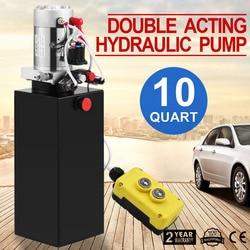 Auto Aufzüge 10L Hydraulische Getriebe Stahl Tank Doppelt Wirkende Pumpe Kommerziellen Getriebe Pumpen Fahrzeug hydraulische pumpe