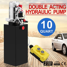 Car Lifts 10L Hydraulic Gear Steel Tank Double Acting Pump Commercial Gear Pumps