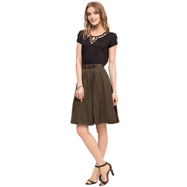 Gloria Jeans Однотонная расклешенная юбка для девушки GSE000334