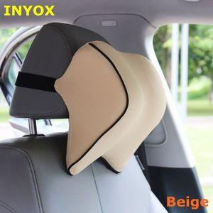 Image 2 - S1 ヘッドレスト車の首枕シート腰椎枕自動車バックヘッドレスト低反発生地チェアサポートクッションカバー