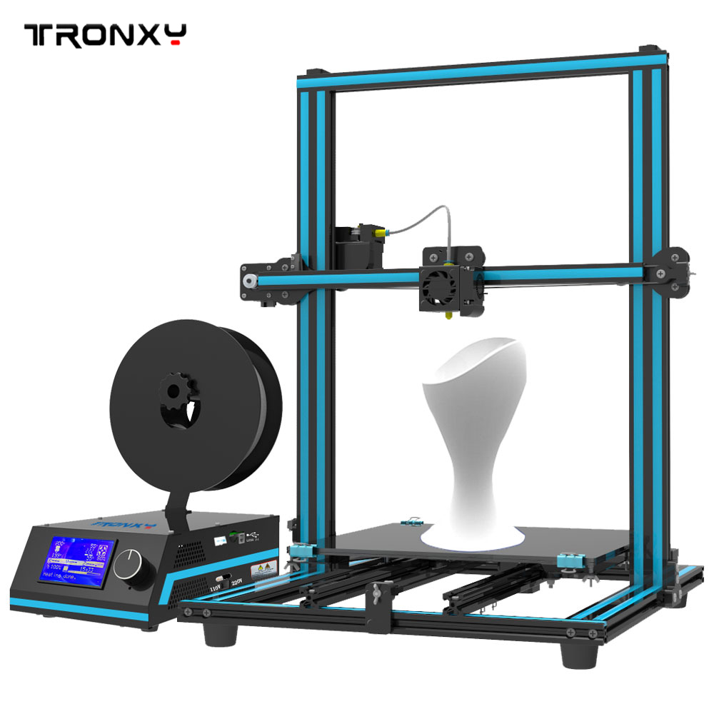 2017 New Tronxy X3S 3D Printer DIY kits Quick installation Big size Print Area 330*330*420mm free dhl shipping large print area 210 210 280mm 3d printer aluminium structure filament 8gb sd card as gift tronxy 3d printer