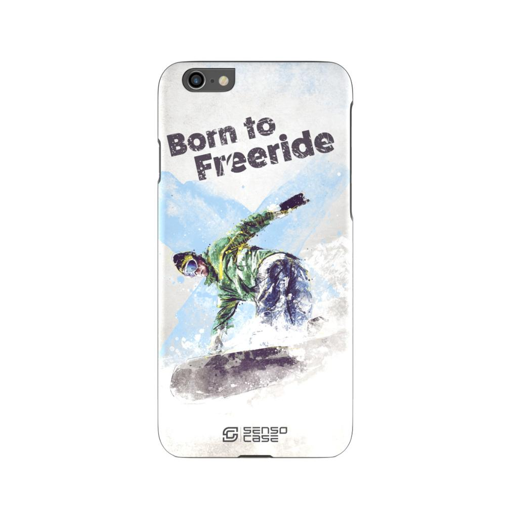 Protective Case SensoCase Snowboarding for Apple iPhone
