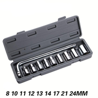 Multi Function Hardware Tools 10PCS Set Socket Wrench Set Vehicle Repair Tool