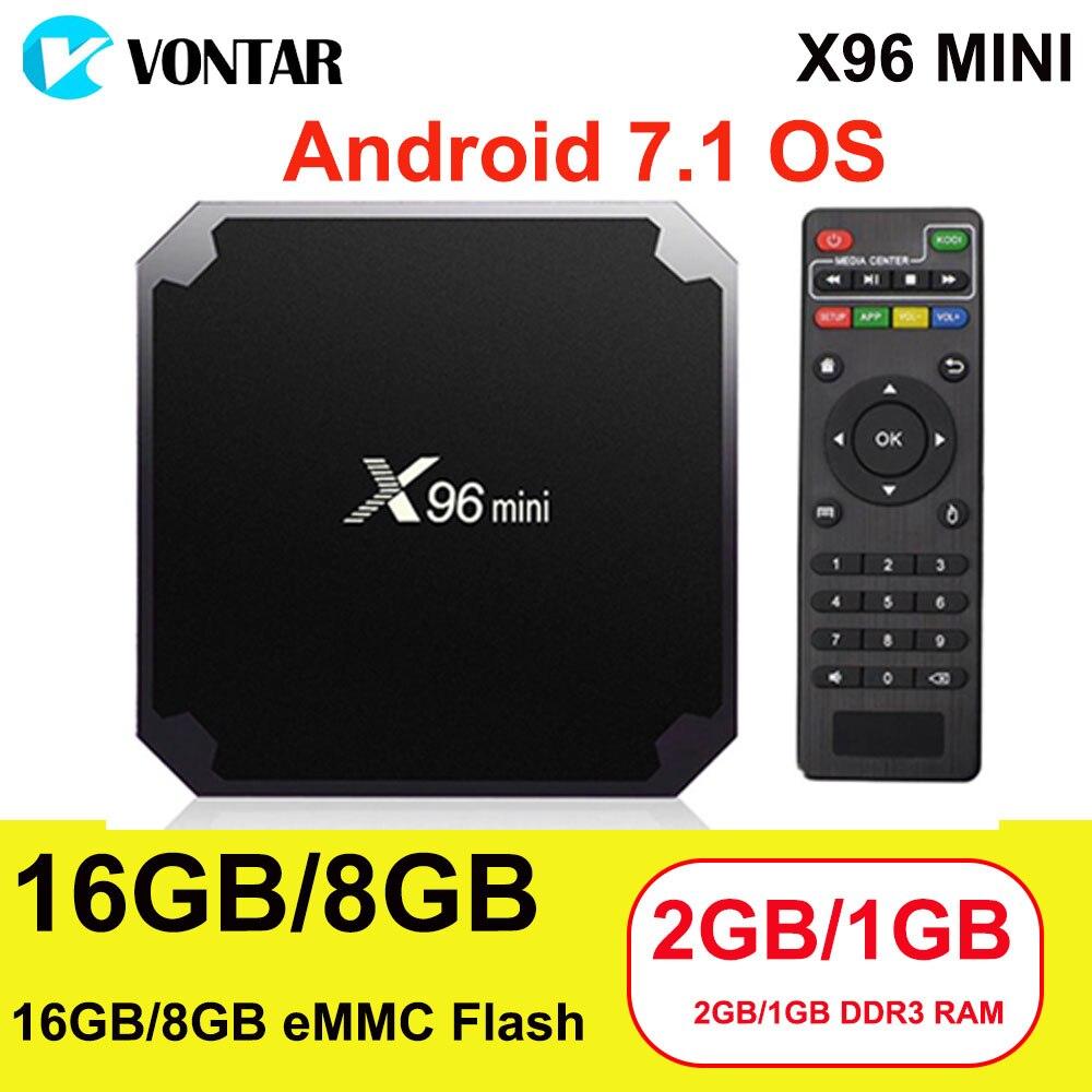 X96mini Smart TV BOX 2 gb/16 gb 1 gb/8 gb Amlogic S905W Android 7.1 TVbox Quad Core 4 karat 30tps 2,4 ghz WiFi X96 Mini Boxen Set top box