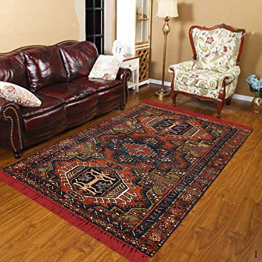 Else Brown Black Orange Ethic Morocco Authentic 3d Print Anti Slip Kilim Washable Decorative Kilim Area Rug Bohemian Carpet