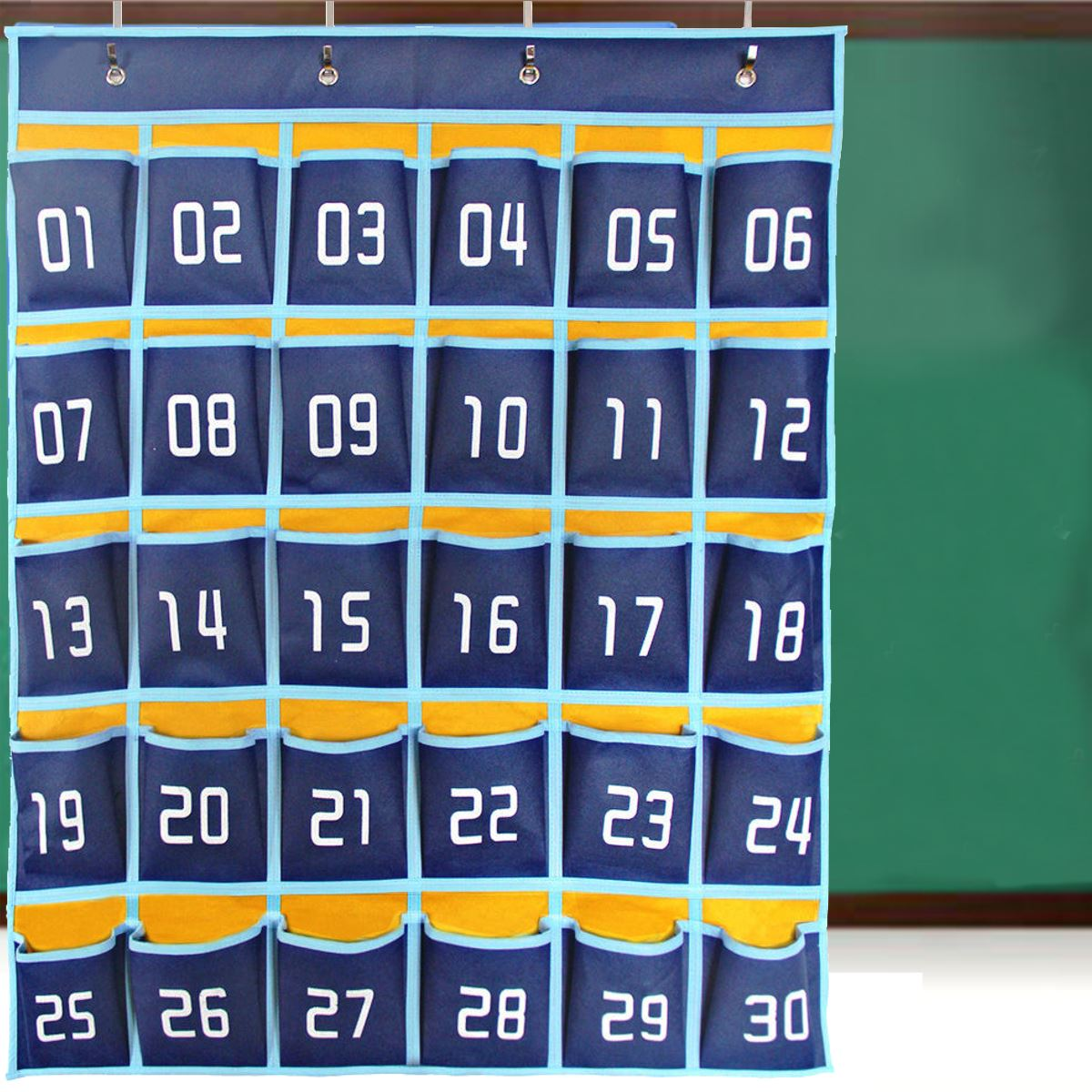 30 Pockets Numbered Classroom Cell Phones Organizer Pockets Chart ...
