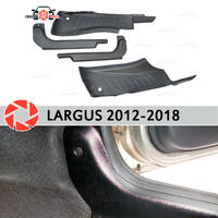 Door sill trim carpet for Lada Largus 2012 2018 inner sill step plate trim protection carpet accessories car styling decoration|Chromium Styling| |  -
