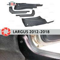 Umbral de puerta alfombra de tapicería para Lada Largus 2012-2018 embellecedor de placa interior de alféizar accesorios de alfombra de protección decoración de estilo de coche