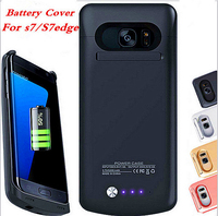 POWER Case Charge Black Back Battery Cover For Samsung Galaxy S7 Edge Case S7 Charger S7edge