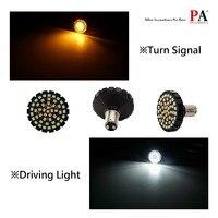 PA LED 2pcs x 1157 BAY15D LED BRAKE TURN Signal Light Yellow Amber Color 9 32V For Harley Davidson Edition