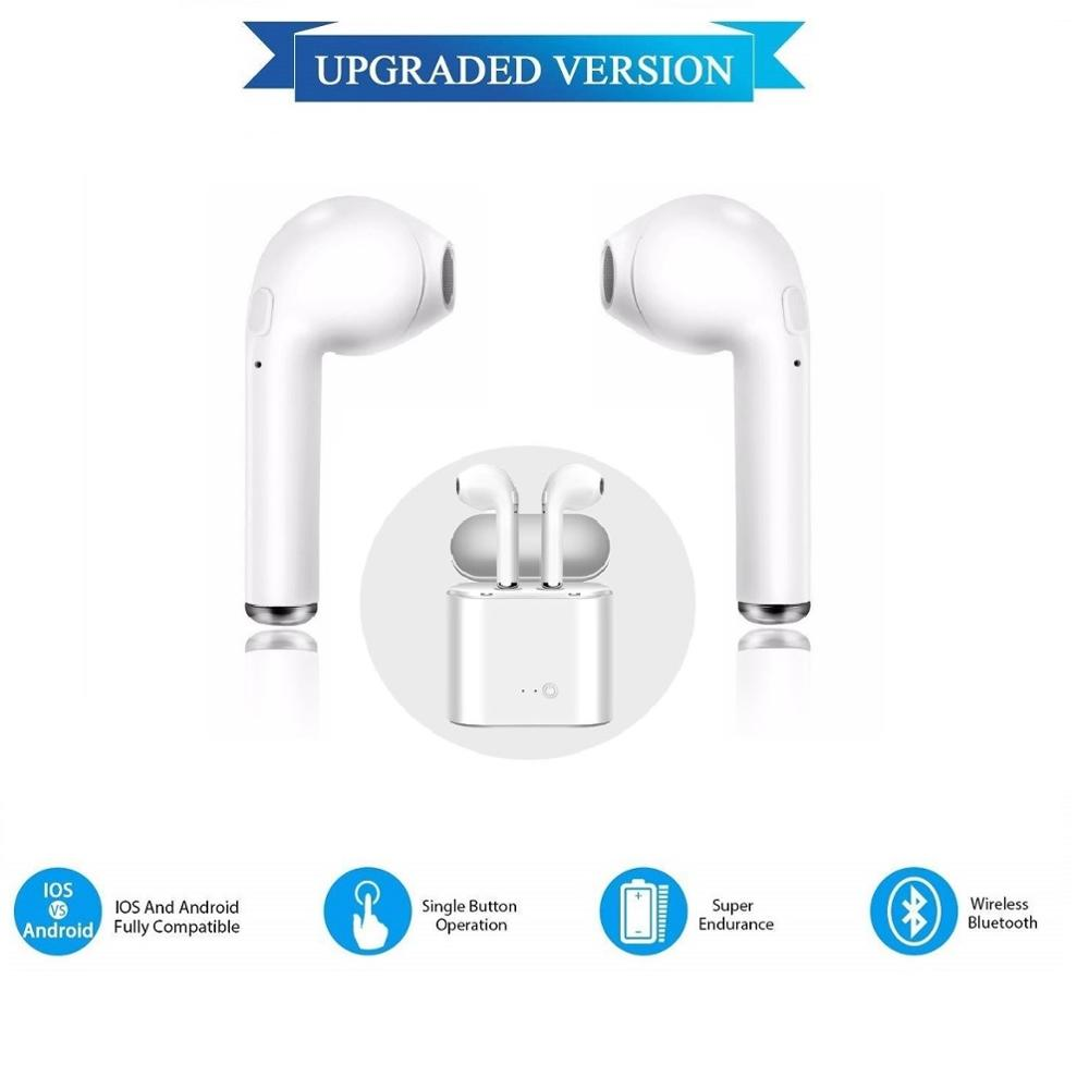 Bluetooth Headset Wireless For IOS Android I7 MINI Universal Headphones Con Microfono Universal ALL Smartphones