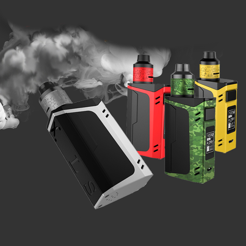 100W TC 6ml RDTA Box Electronic Vaporizer Hookah Pen Vaper Smoke Pen  Starter kit Smart Control 3000mah Vaporizador E-Cigarette