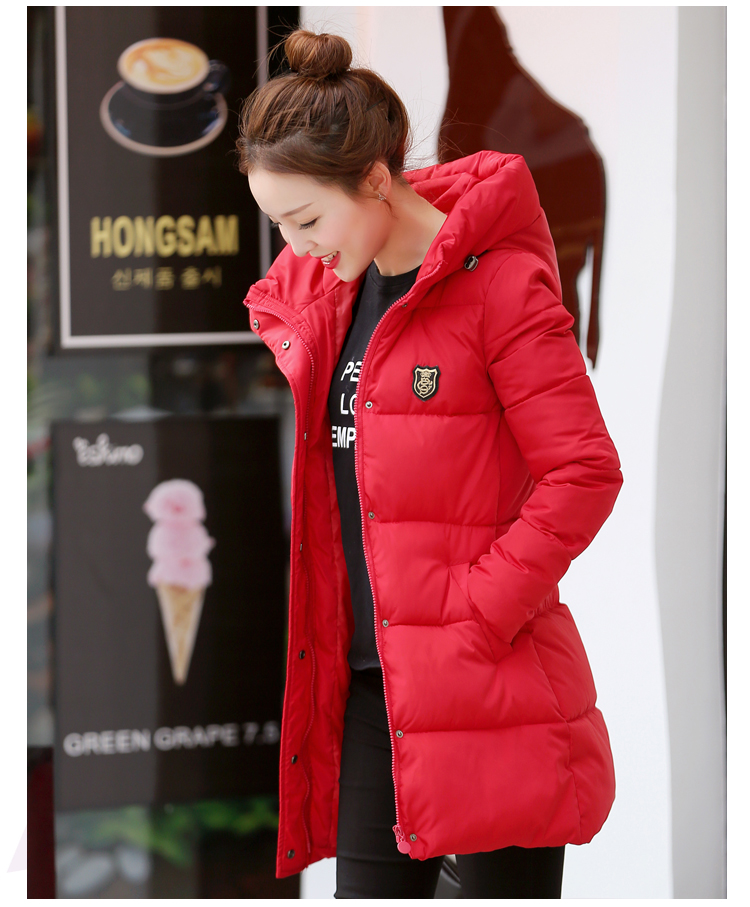Women s winter cotton jacket New fashion Long section hooded jaqueta Mulheres Overcoat thick warm Parka