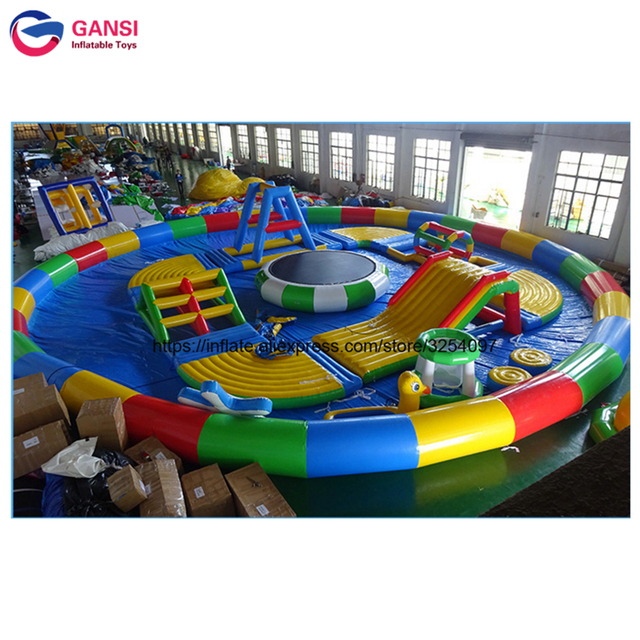 Giant Inflatable Type Water Playground Inflatable Water Park with Swimming Pool