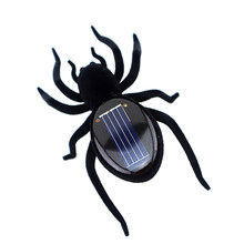 Realistic Creepy Solar Power Spider Toy Kids Adults Funny Joking Toy Prank Toy Halloween Gift For Treat Or Trick(China)