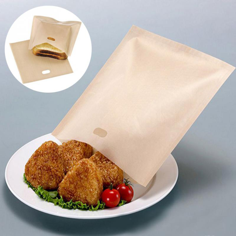 Home Supplies Cheese Sandwiches Non-stick Baked Toast Baking Tools Reusable Bread Bags for Grilled Toaster Bags Made Easy 1PC image