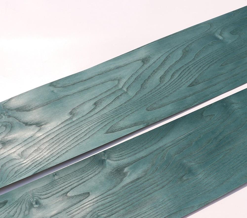 Natural Wood Veneer Sliced Veneer Ash Burl Peacock Green Excellent Panel EP 22x250cm Tissue Backing 0.3mm Thick C/C