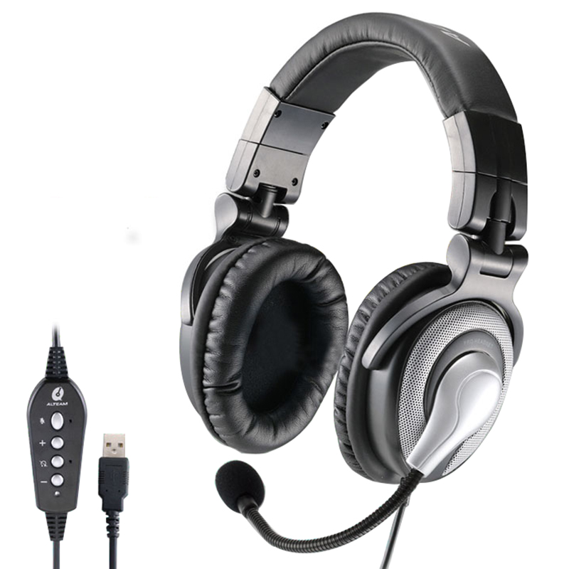 Pro USB Jack 7.1 Surround Sound Stereo Bass Game Gaming Gamer Headset Headphones with Microphone Volume Control for PC Computer pro usb jack 7 1 surround sound stereo bass game gaming gamer headset headphones with microphone volume control for pc computer