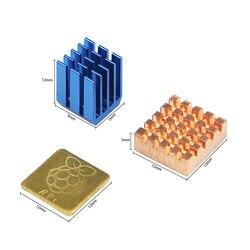 라즈베리 파이 3 모델 B + 플러스 열 싱크 1 알루미늄 + 2 구리 로고 냉각 패드 disipador 히트 싱크 라즈베리 파이 3 B +/3