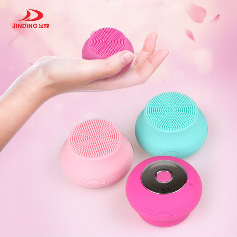 Jinding Electric Face Cleanser Vibrate Pore Clean Silicone Cleansing Brush Massager Facial Vibration Skin Care Spa Massage 4 in 1 electric facial cleanser deep cleansing skin care blackhead removal washing brush massager face body exfoliator scrub