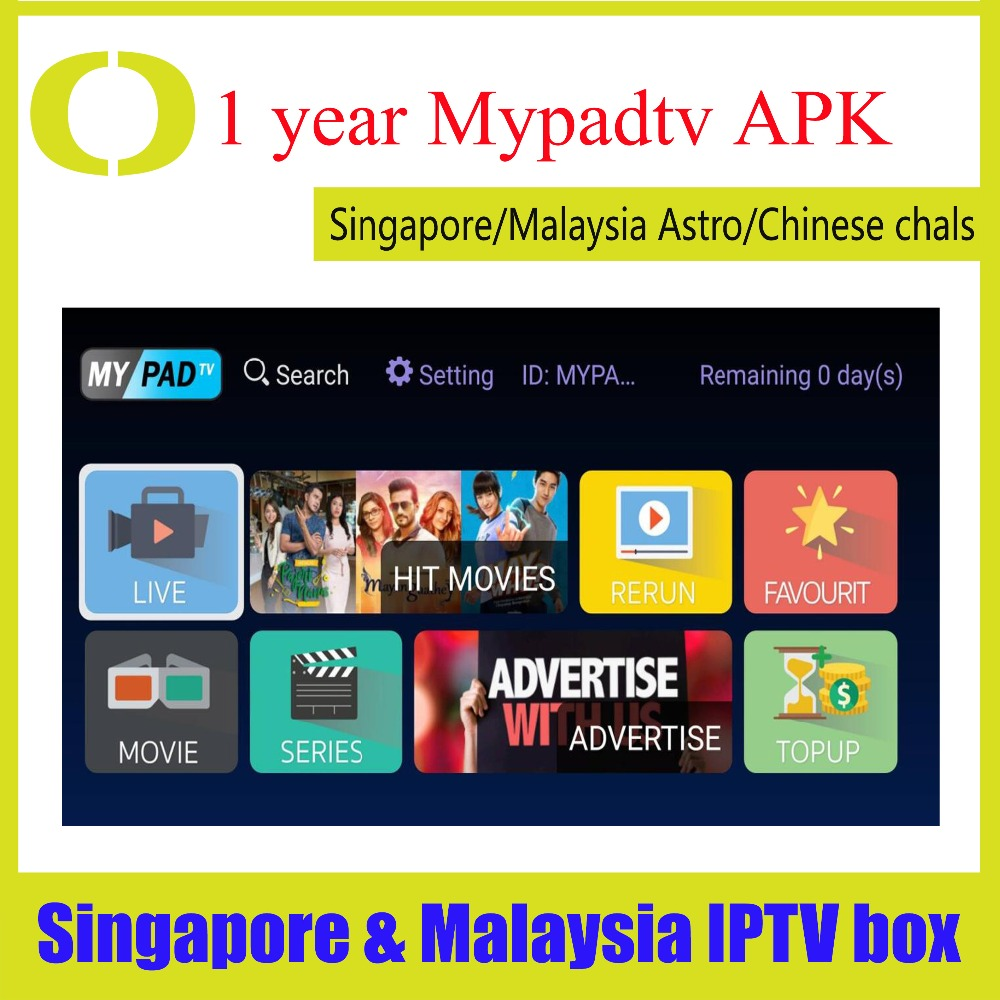 Renew 1 year Myiptv4k Subscription Myiptv Android box for