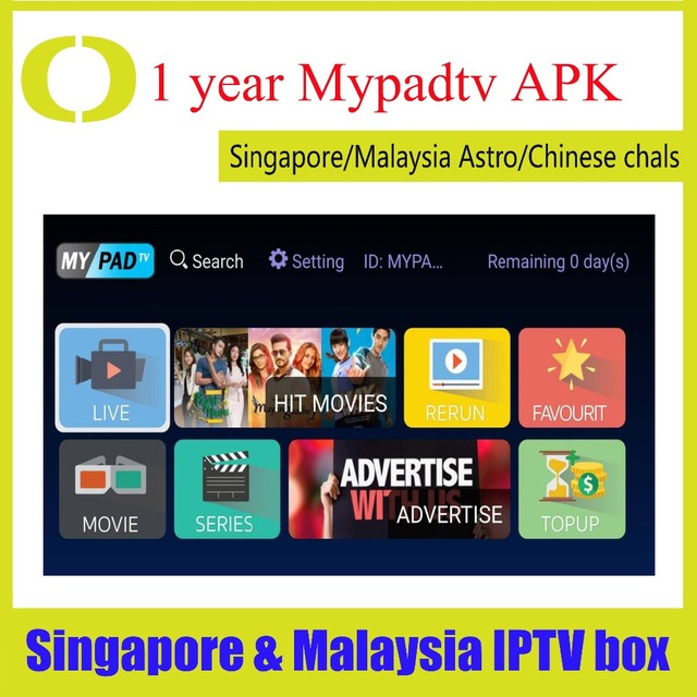 US $28 5 |Aliexpress com : Buy Renew mypadtv yearly subscription Myiptv4K  for Singapore and Malaysia Australia New zealand Global use from Reliable