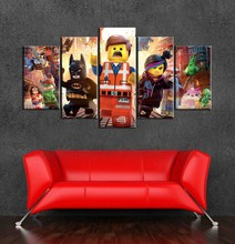 Minecraft Character 5 Pieces Modular Pictures Home Decor Modern Wall Art Decorative Canvas Painting HD Printed Game Poster 5 pieces minecraft painting wall art modular pictures canvas printed modern artwork pictures wall decor game poster home decor