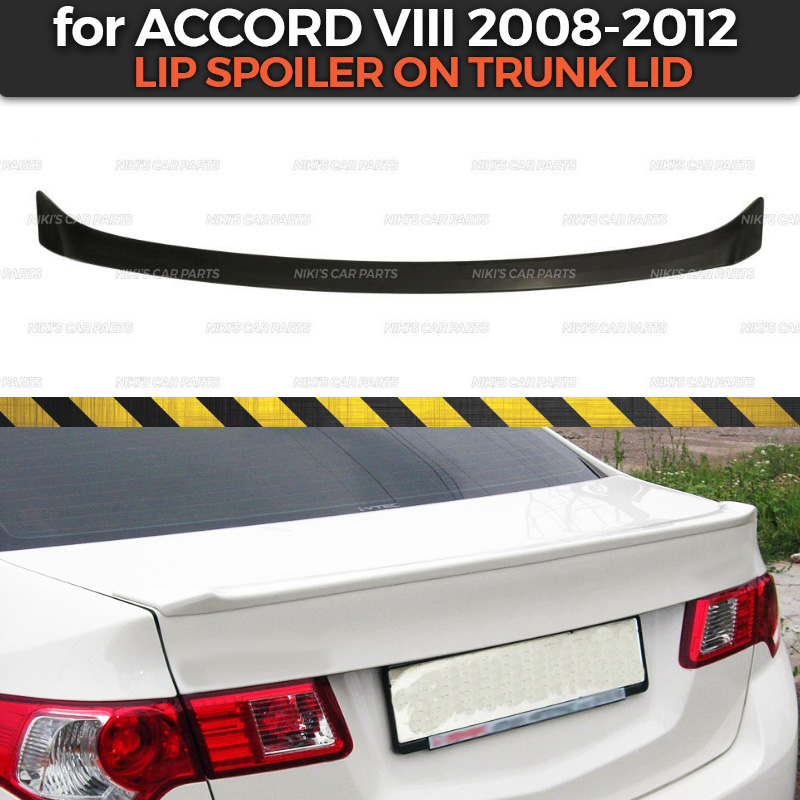 Lip spoiler case for Honda Accord VIII 2008 2012 ABS plastic sport style car styling car