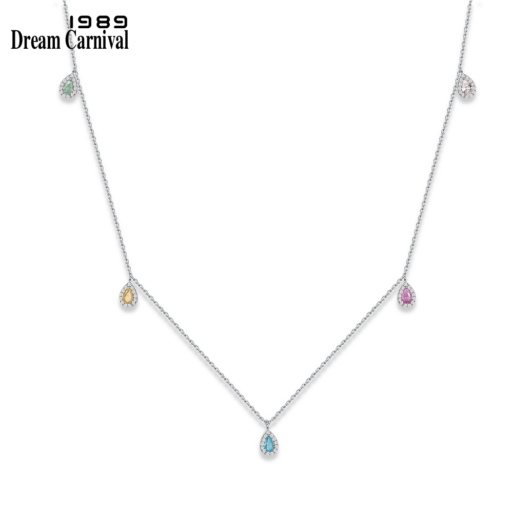 DreamCarnival1989 Five Small Drop Charms Mix Colorful Rainbo