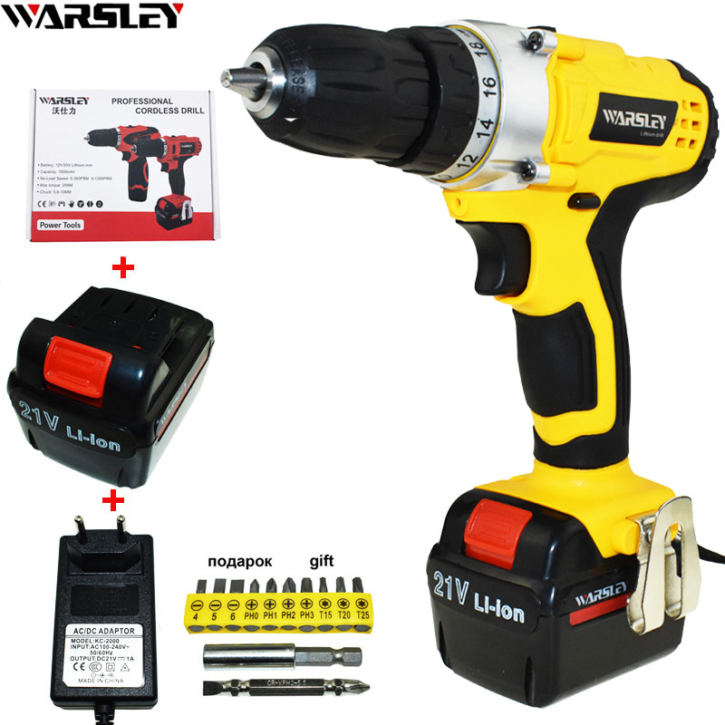 21v Battery Drill Cordless Drill Power Tools Electric Drill Electric Screwdriver Electric Screwdriver Mini Electric Drilling free shipping brand proskit upt 32007d frequency modulated electric screwdriver 2 electric screwdriver bit 900 1300rpm tools