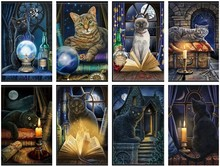 Counted Cross Stitch Kits Needlework Embroidery   14 ct Aida DMC Color DIY Arts Handmade Home Decor   Black Cat Collection