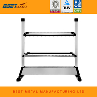 BEST METAL Aluminum Alloy Fishing Rod Rack Holder Stand Tackle for Fishing Rod Set Capacity 24pcs All types of fishing rod
