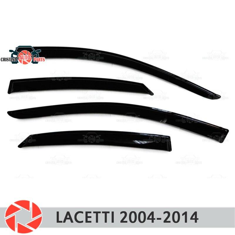 Deflector de ventana para Chevrolet Lacetti 2004-2014, deflector de lluvia, accesorios de decoración de estilo de coche, moldura