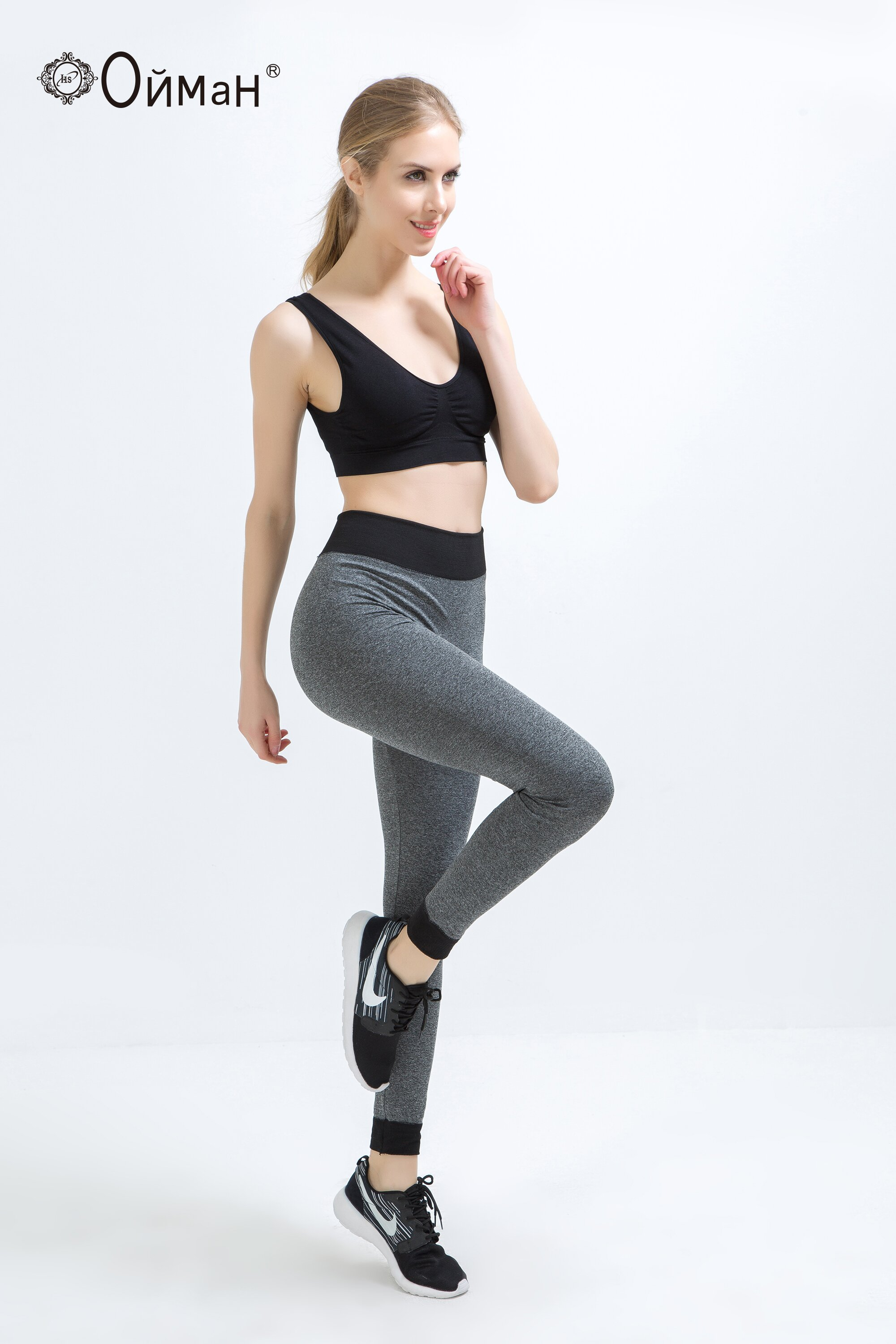 Jogging tights for women OEMEN LR666 leggings for running, yoga and fintess shipping from Russia