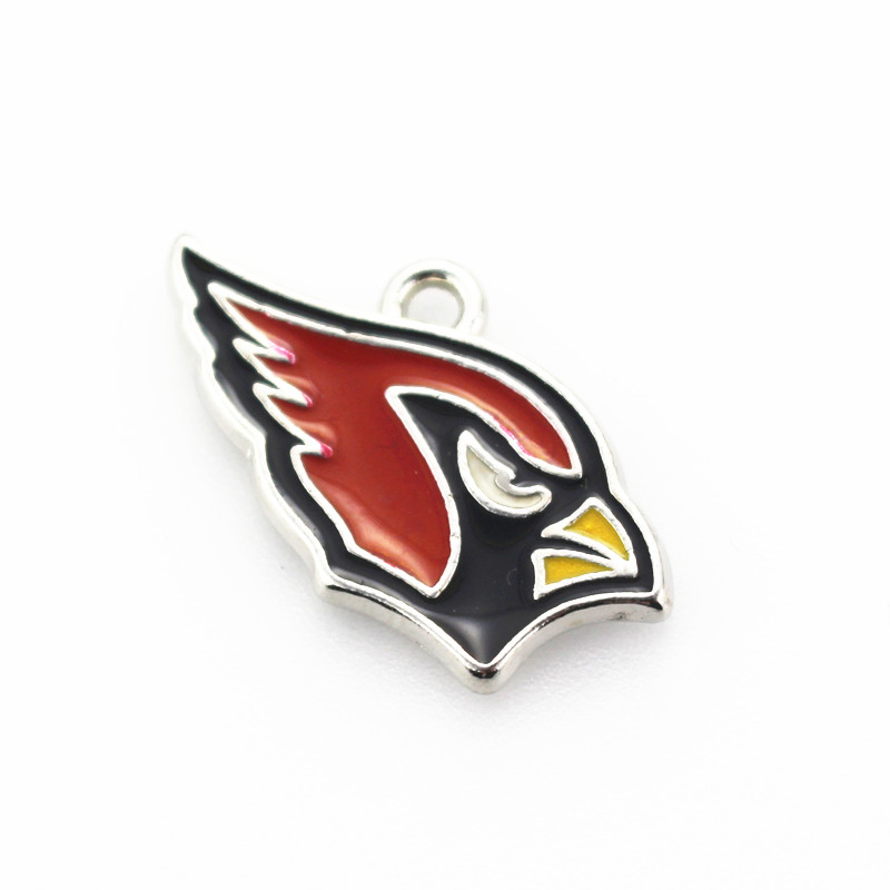 2018 New 10pcs/lot Arizona Cardinals Football Team Dangle Charms Hanging Charm DIY Jewelry Accessories Necklace Pendant