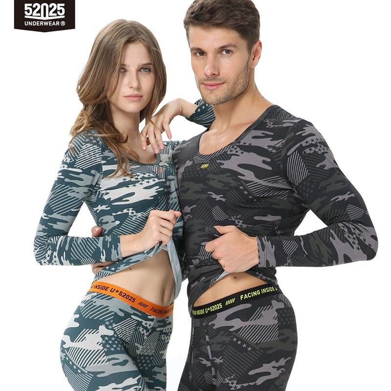 52025 sous-vêtement thermique hommes sous-vêtement thermique femmes Camouflage coton Long John hommes Sports costumes hommes thermiques longs Johns