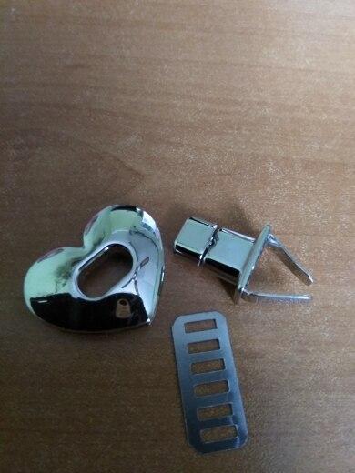 THINKTHENDO Nieuwe Hart Vorm Sluiting Metalen Hardware Voor DIY Handtas Tas Turn Lock Twist Lock Portemonnee Sluitingen Sloten Tas Accessoires photo review