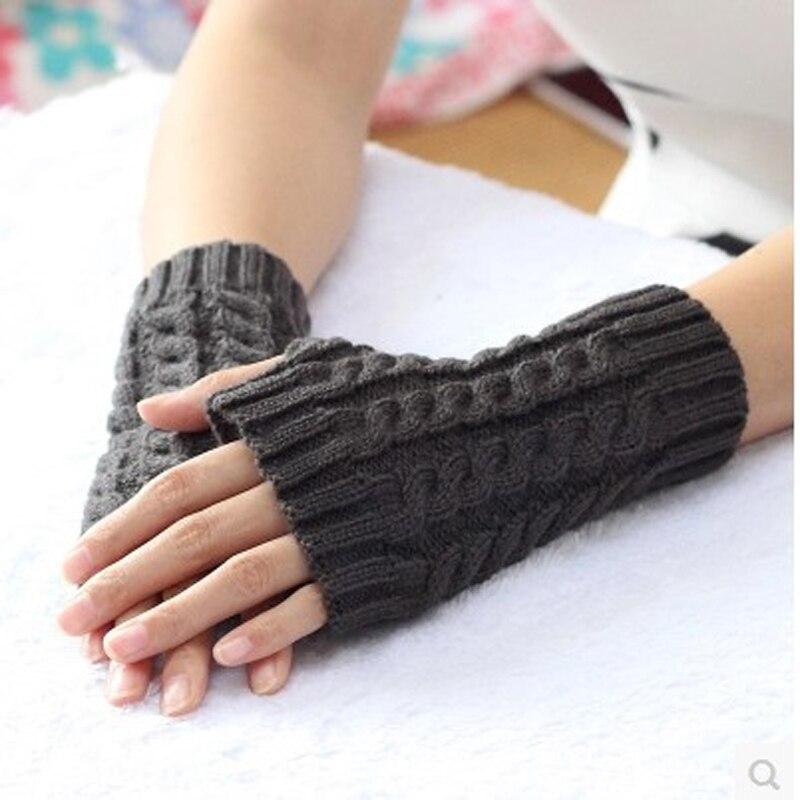2017 женская мода половины пальцев перчатки зима теплая шерсть вязать руки перчатки мужчин и женщин соответствующие женские перчатки мягкий ...